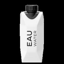 Bouteille d'eau en carton | 330 ml | 1 couleur imprimée
