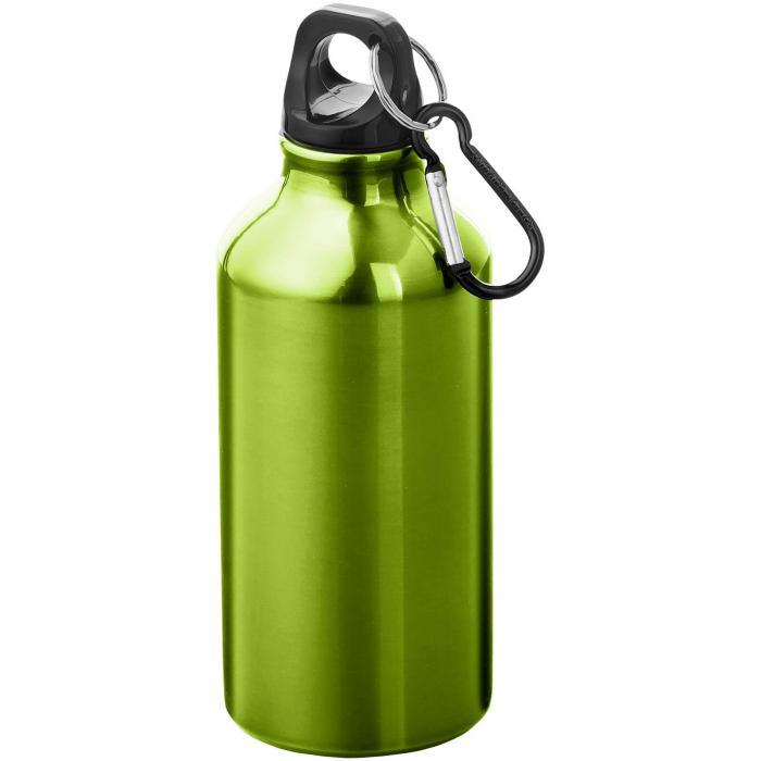 Gourde en aluminium | Mousqueton | 350 ml | 92100002 Vert pomme