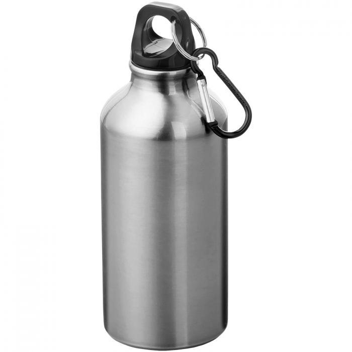 Gourde en aluminium | Mousqueton | 350 ml | 92100002 Argent