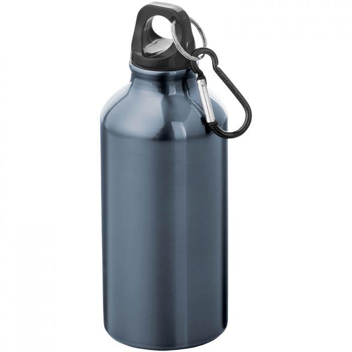 Gourde en aluminium | Mousqueton | 350 ml | 92100002 Marine