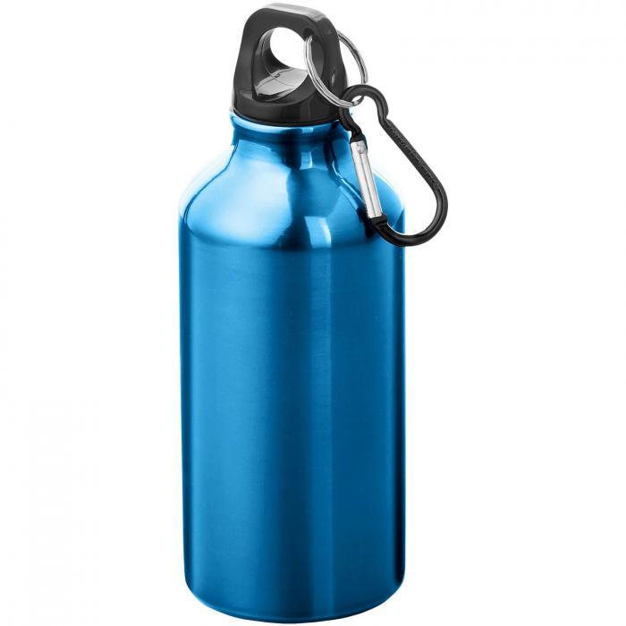 Gourde en aluminium | Mousqueton | 350 ml | 92100002 Bleu