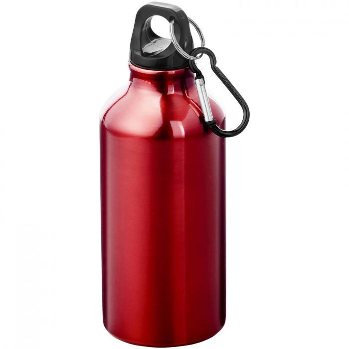 Gourde en aluminium | Mousqueton | 350 ml | 92100002 Rouge