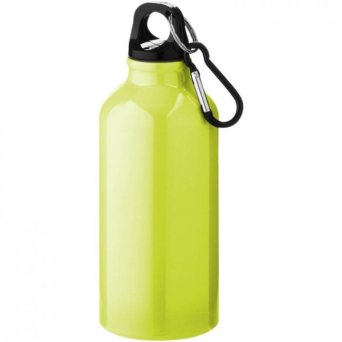 Gourde en aluminium | Mousqueton | 350 ml | 92100002 Jaune fluorescent