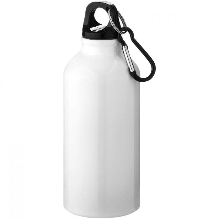 Gourde en aluminium | Mousqueton | 350 ml | 92100002 Blanc