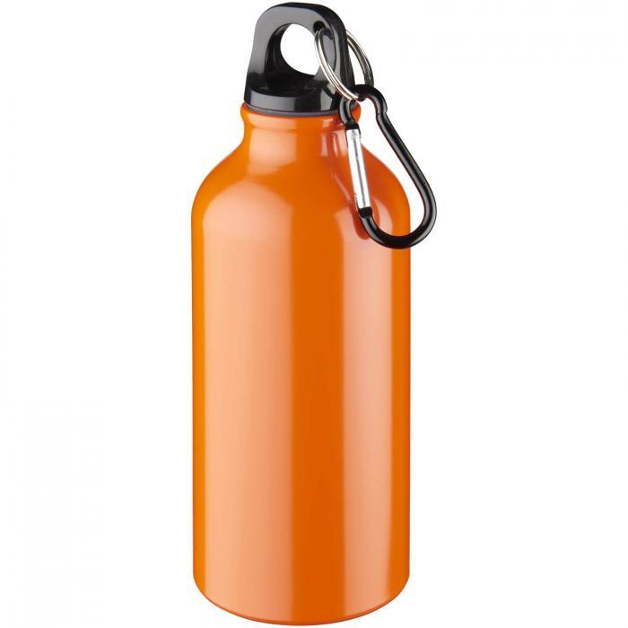 Gourde en aluminium | Mousqueton | 350 ml | 92100002 Orange