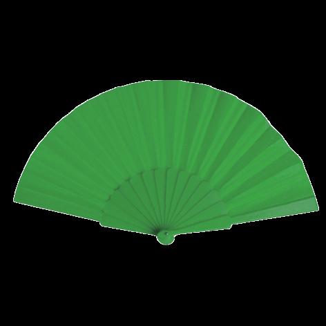 Éventail | Manche plastique | Voile polyester | 158096 Vert