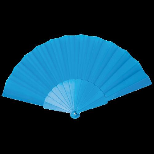 Éventail | Manche plastique | Voile polyester | 158096 Bleu Clair