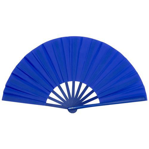 Éventail | Voile en tissu | Manche en plastique  Personnalisé |   | 154977 Bleu