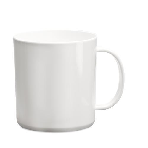 Mug   PP plastique   350 ml   maxp040 Blanc