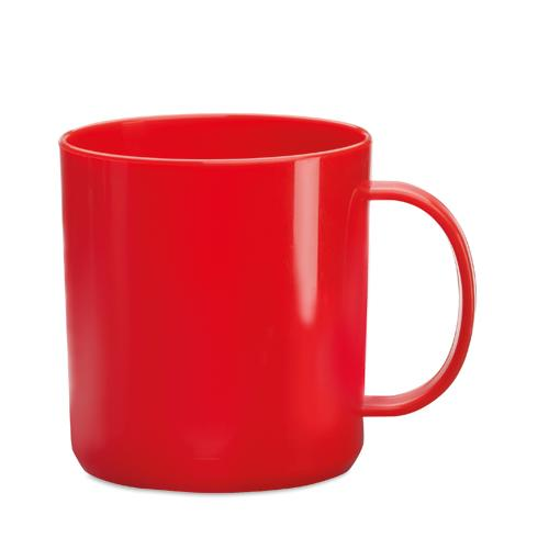 Mug   PP plastique   350 ml   maxp040 Rouge