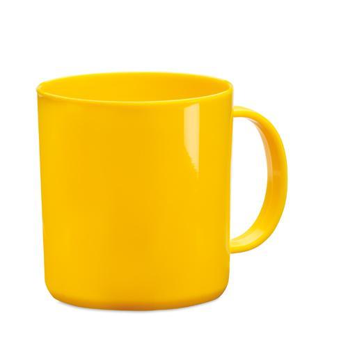 Mug   PP plastique   350 ml   maxp040 Jaune