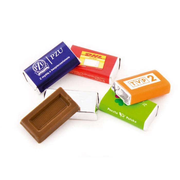 Chocolat emballé | 5 gr. | mini | Quadrichromie  | 72rnap