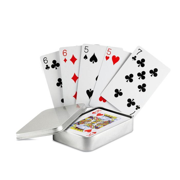 Cartes à jouer | Boîte fer | Classique | 8797529