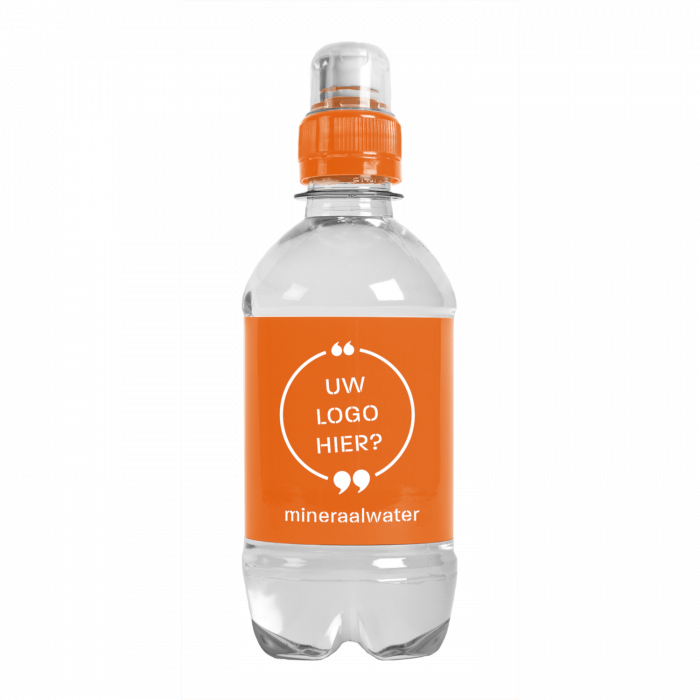 Bouteille d'eau | 330 ml | Bouchon de sport | 43330sd Orange