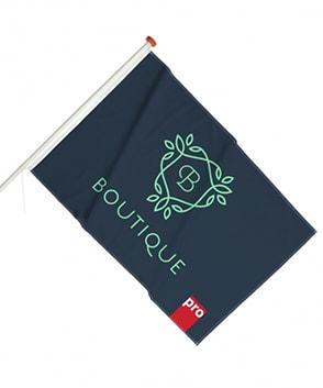 drapeau de façade personnalisé
