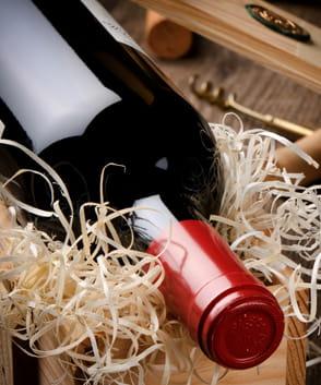 Coffret vin personnalisé avec 1 compartiment