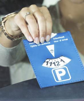 Disque de stationnement personnalisé