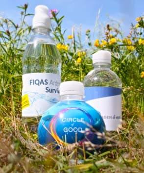 Bouteilles d'eau avec étiquette personnalisée